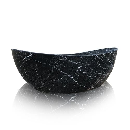 Freestanding Black Marble Bathtub