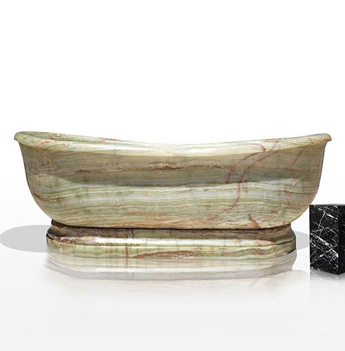 Contemporary custom gemstone bathtub