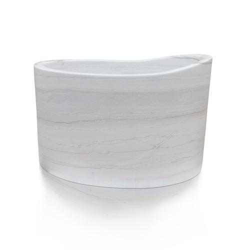 Custom seated soaking marble japanese soaking tub