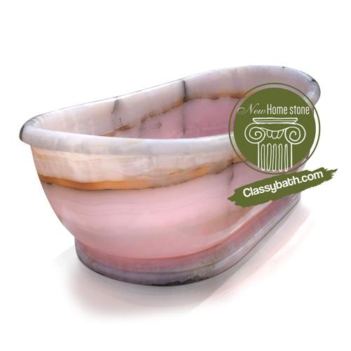 Contemporary luxury rose quartz bathtub